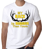"Funny Hunting Shirt ""My Rack Is Bigger Than Yours"" - Badass Printing"