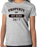 "Mother T-Shirt ""Property of MY Kid, 24/7"" - Badass Printing"