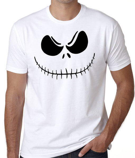 Scary Pumpkin Face T-Shirt - Halloween Party Costume, Horror, Fear, Scare - Badass Printing