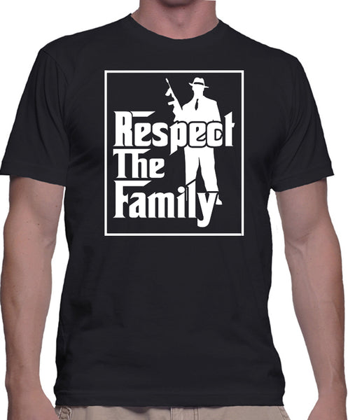 "Mafia T-Shirt ""Respect The Family"" - Badass Printing"