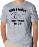 "Uncle T-Shirt ""Uncle & Nephew Best Friends For Life"" - Badass Printing"