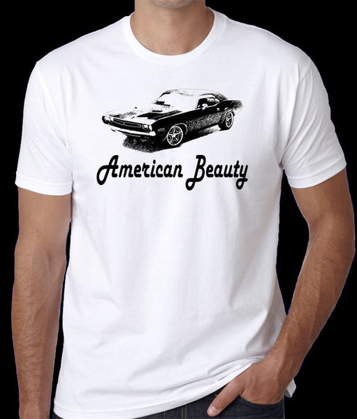 1970 Dodge Challenger Vintage Car American Beauty  T-Shirt - Badass Printing