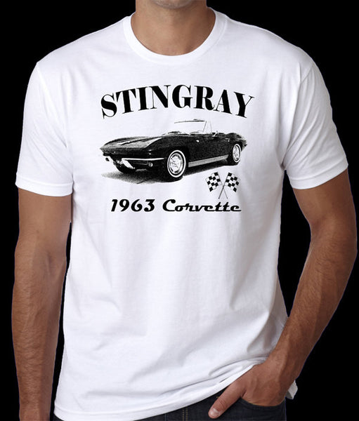 1963 Corvette T-Shirt - Stingray, Classic Car Shirt, Vette Lover, Muscle Cars - Badass Printing