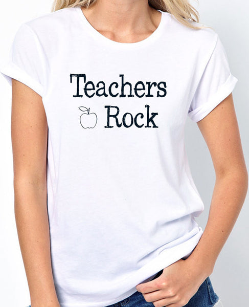 Teachers Rock T-Shirt - Badass Printing