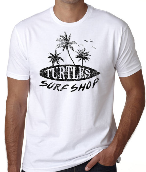 Turtles Surf Shop Beach T-Shirt - Badass Printing
