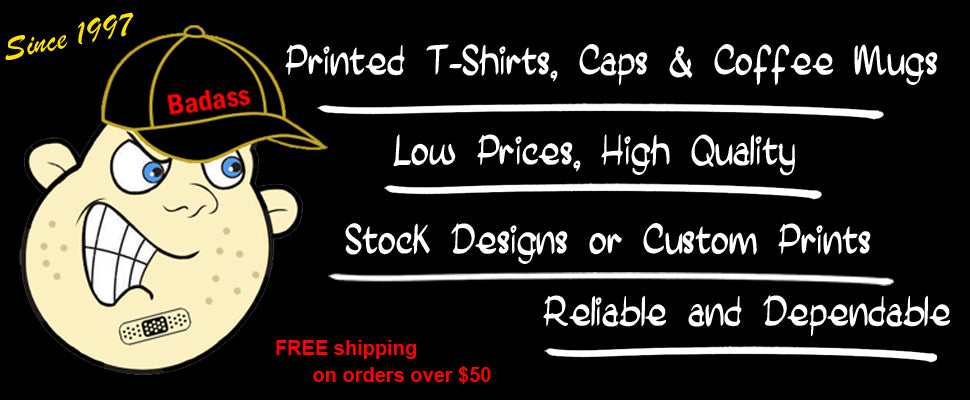 Screen Printing, Vinyl, Embroidery of T-Shirts, Baseball Caps, Sweatshirts, Hoodies, Coffee Mugs and more.