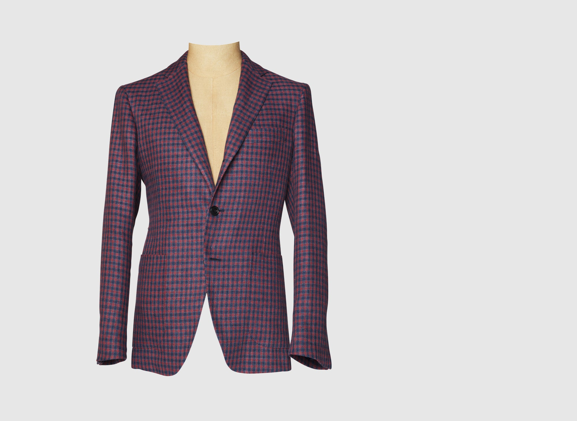 LINEN/COTTON GINGHAM SUIT