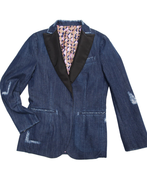 DENIM TUX JACKET