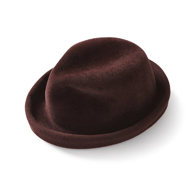 Brown Rabbit Velour Fedora - Jay Kos Menswear
