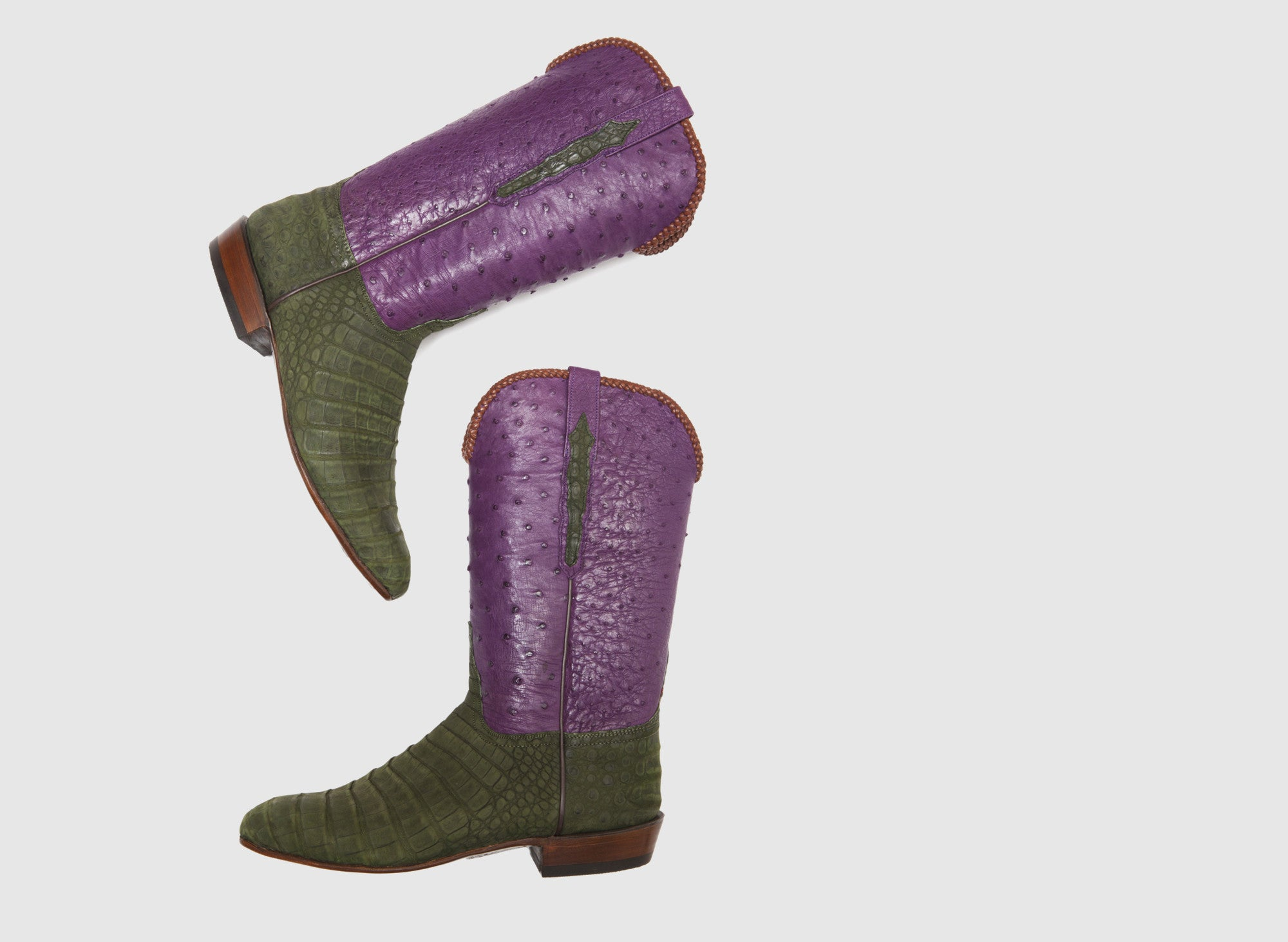 COWBOY BOOTS OLIVE SUEDE