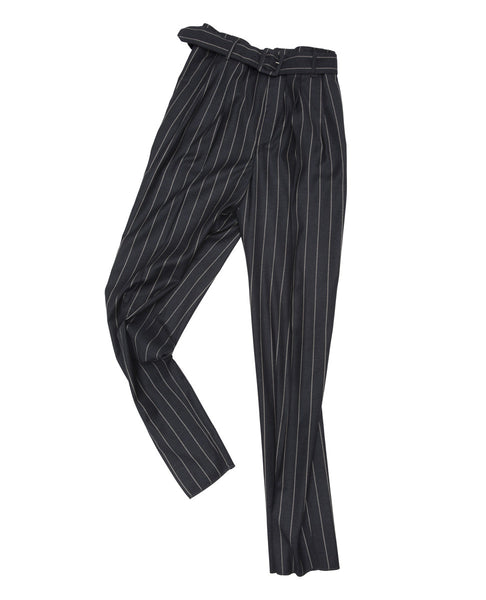 STRIPED PLEATED PANT
