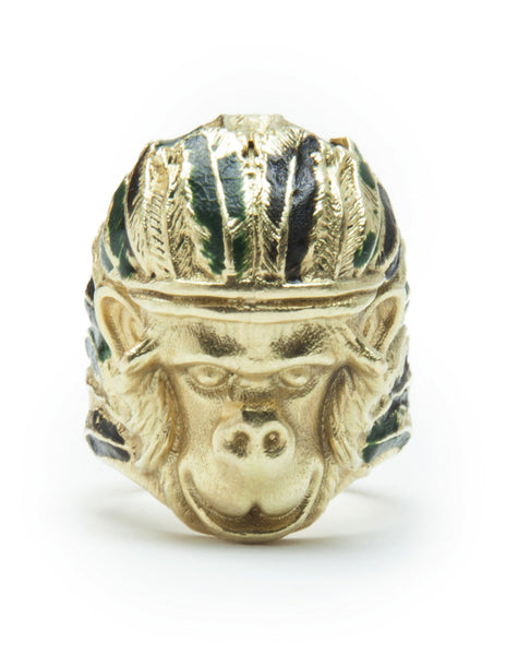 INDIAN MONKEY RING YELLOW GOLD