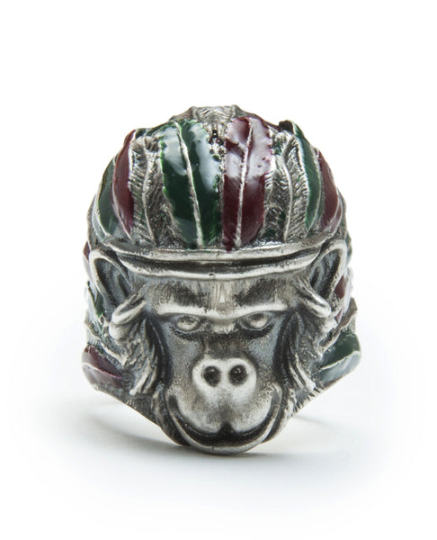 INDIAN MONKEY RING SILVER