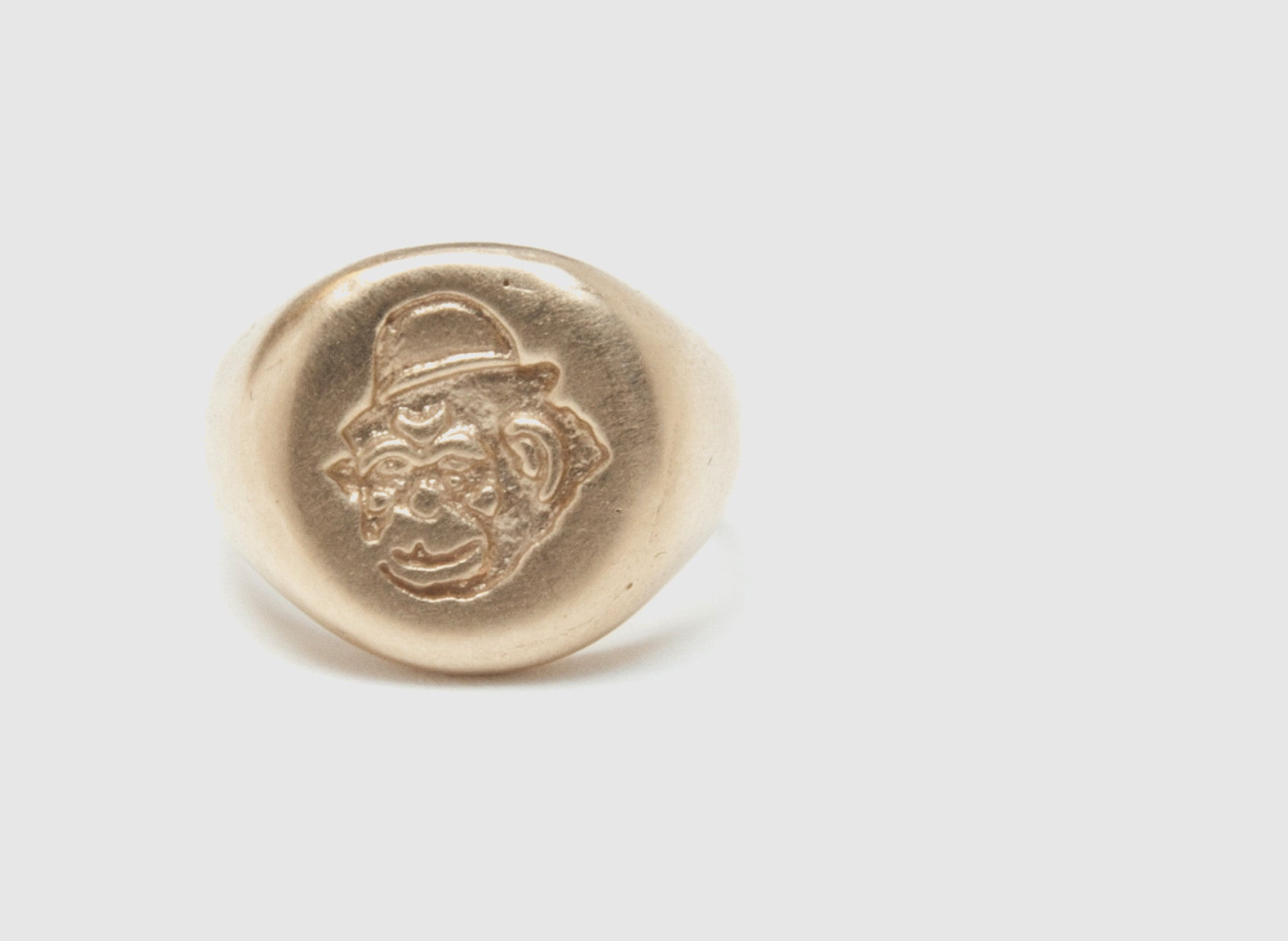 MONKEY SIGNET RING 18K ROSE GOLD