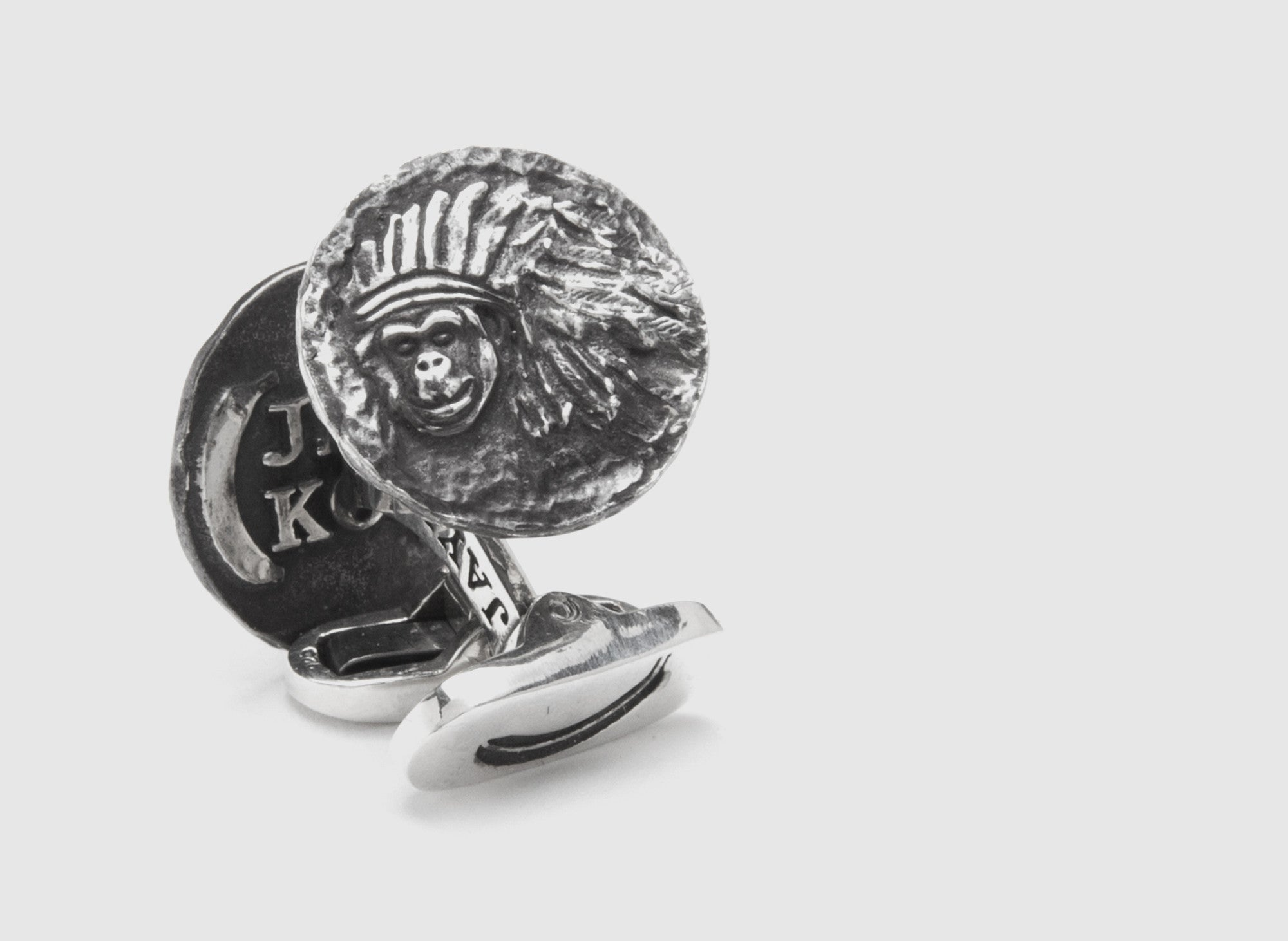 INDIAN SMALL COIN CUFFLINKS SILVER