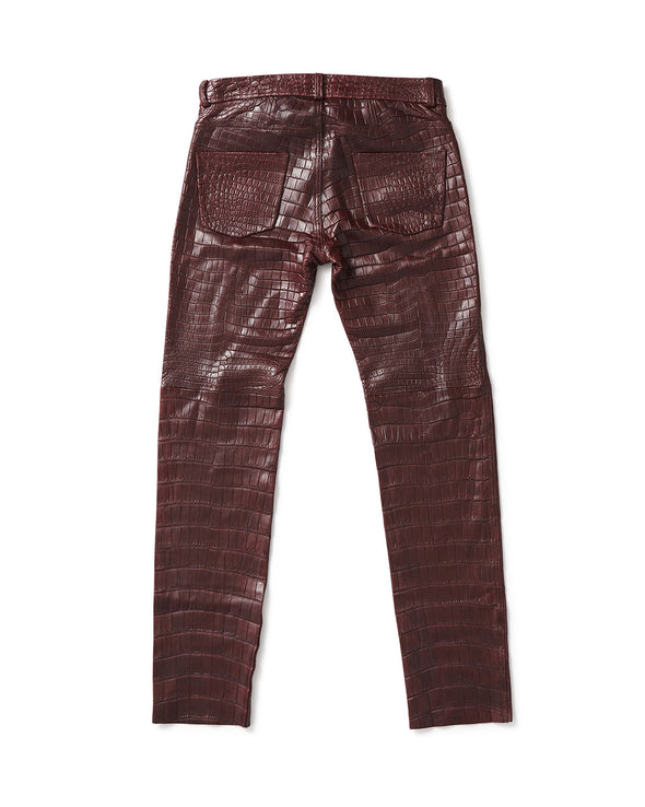 Alligator Skin 5 Pocket Jean - Jay Kos Men's Clothing