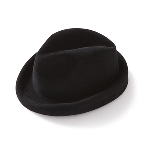 Black Rabbit Velour Fedora - Jay Kos Men's Clothing