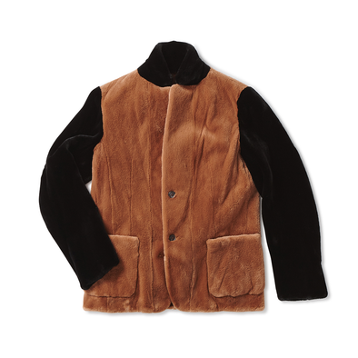 Black and Camel Tan Mink Blazer - Jay Kos Menswear