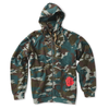 Camo Cotton Hoodie with Rose Print - Jay Kos Men's Clothing