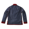 Denim Koslaba Jacket with Burgundy Trim - Jay Kos Men's Clothing
