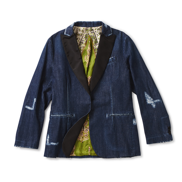 Distressed Denim Dinner Jacket - Jay Kos Menswear