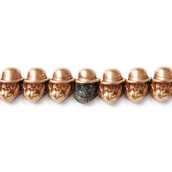 18k Rose Gold Large Monkey Head ID Bracelet - Jay Kos Men's Clothing
