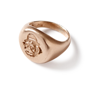 Gold Monkey Head Signet Ring - Jay Kos Menswear