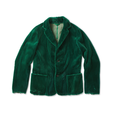 Kelly Green Mink Blazer - Jay Kos Men's Clothing
