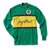 Green and Yellow Dyed Italian Wool Bike Jersey - Jay Kos Menswear