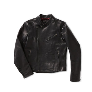 Black Horse Hide Leather Motorcycle Jacket - Jay Kos Menswear
