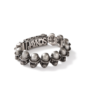 Large Monkey Head ID Bracelet - Jay Kos Menswear