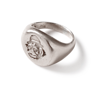 Silver Monkey Head Signet Ring - Jay Kos Men's Clothing