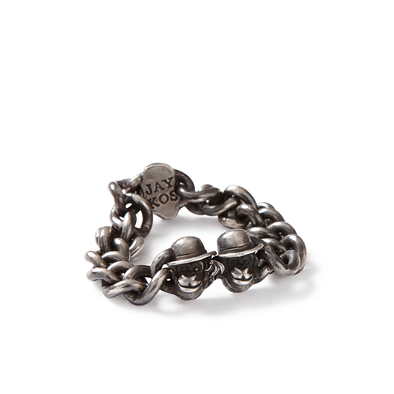 Small Monkey Head Cuban Link Bracelet - Jay Kos Menswear