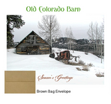 2018 Holiday Cards: Old Colorado Barn