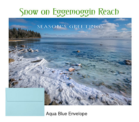 2018 Holiday Cards: Snow on Eggemoggin Reach