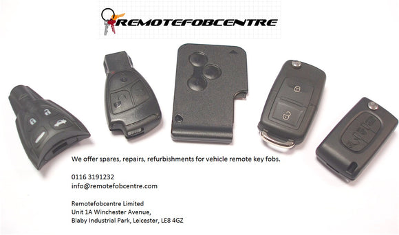 Remotefobcentre are specialists in vehicle remote keys