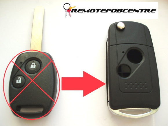 2 button flip key case upgrade for Honda Accord Civic Jazz CRV remote key
