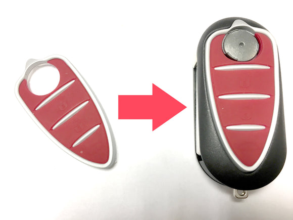 Replacement 3 button Pad for Alfa Romeo Brera Mito Spider GT 159 GT flip key