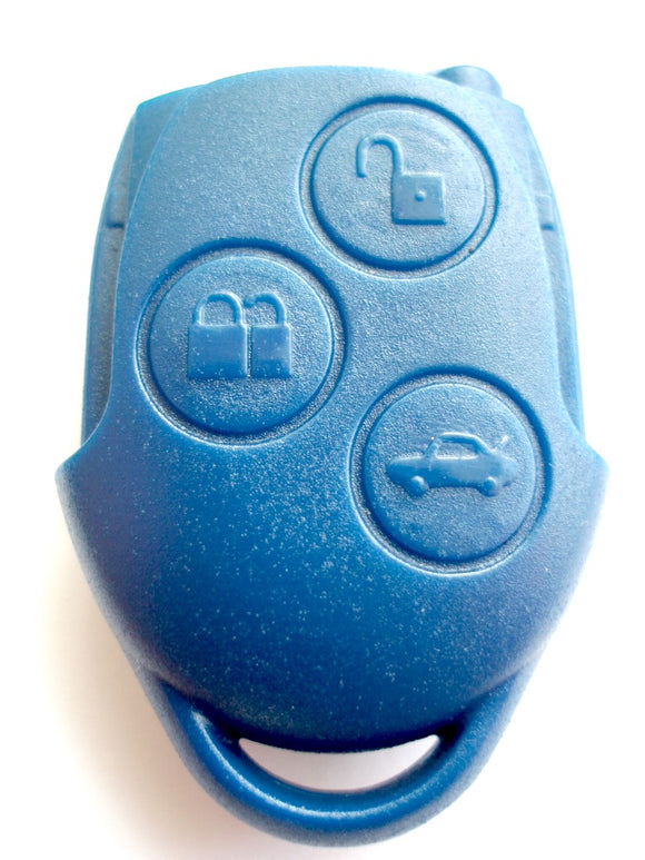 Replacement 3 button blue case for Ford Transit MK4 2006 - 2013 remote key