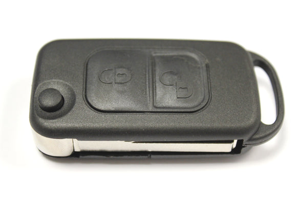 Replacement 2 button flip key case for Mercedes A class W168 remote infra red 1997 - 2004