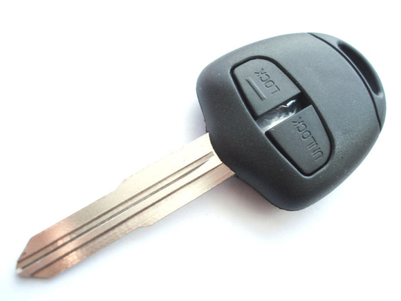 Replacement 2 button key case for Mitsubishi Outlander L200 Shogun Lance remote left groove