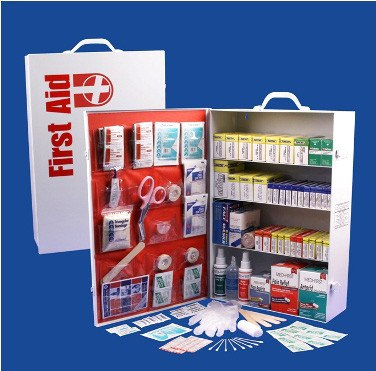 First Aid Kits - 4 Shelf First Aid Cabinet