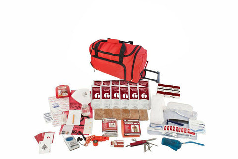 Guardian Deluxe Survival Kit In Red Wheel Bag