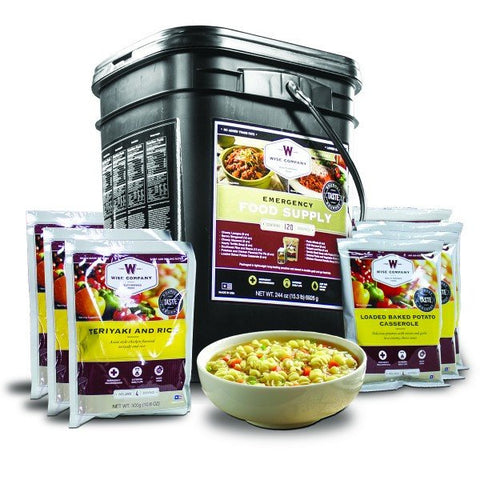 Long Term Food Storage - 120 Serving- Entree Only Grab N' Go Bucket