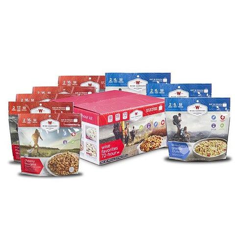 Long Term Food Storage - 9 Pack - Wise Favorites 72 Hour Kit
