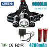 Image of Led Headlight 9000 Lumen 3 T6 Headlamp
