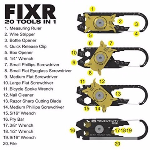 The Fixr 20-in-1 Pocket Multi Tool
