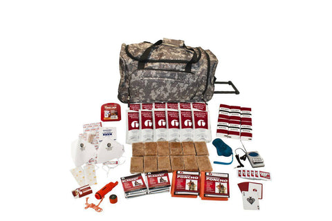 2 Person Guardian Survival Kit in Camo Wheel Bag