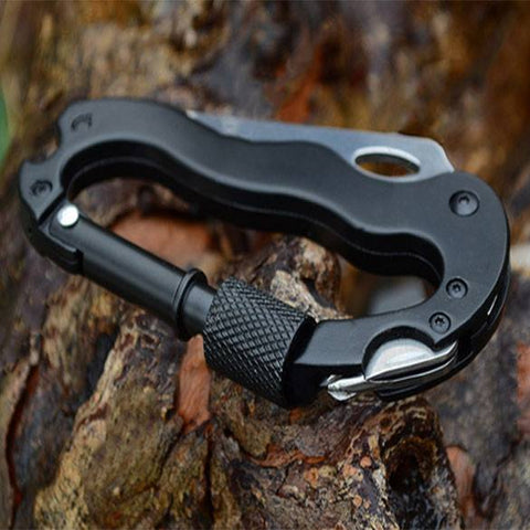 Survival Gear - Outdoor Multi-function EDC Tools 5 In 1 Aluminum Climbing Carabiner
