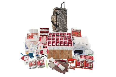2 Person Guardian Elite Survival Kit in Camo Wheel Bag